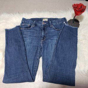 MOTHER Looker Ankle Fray Girl crush jeans skinny
